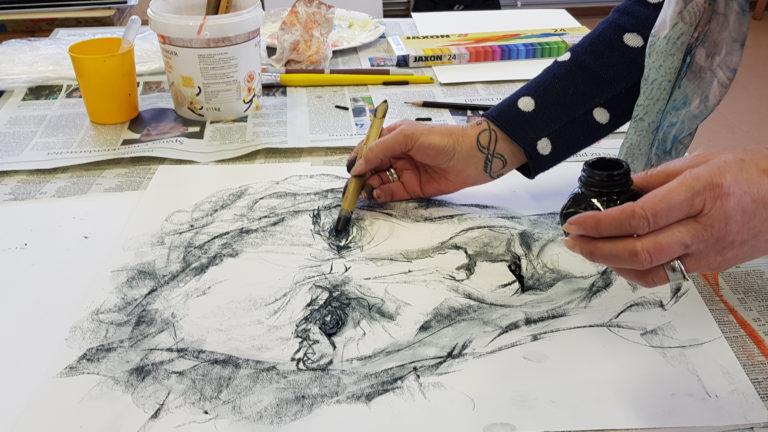 kunstschule portrait in der feierabendkunst