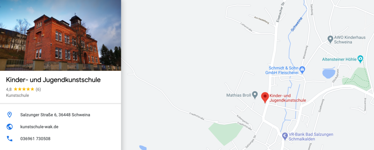 googlemaps kunstschule anfahrt