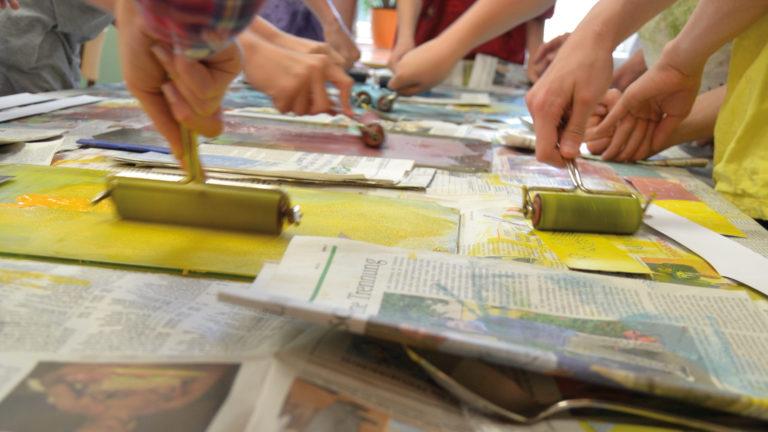 kunstschule schulprojekt drucken